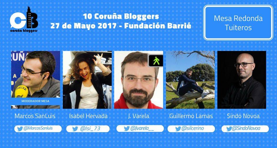 mesa tuiteros Coruna bloggers