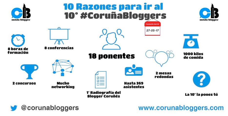 10 razones para ir al #coruñabloggers 10